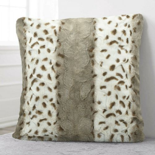 Luxury Faux Fur Sofa Scatter Cushion Super Soft Arctic Cosy Cuddly Feel, 56cm x 56cm, Simbaa Leopard